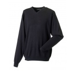 710M.03.0 - Russell•MENS V NECK KNITTED PULLOVER